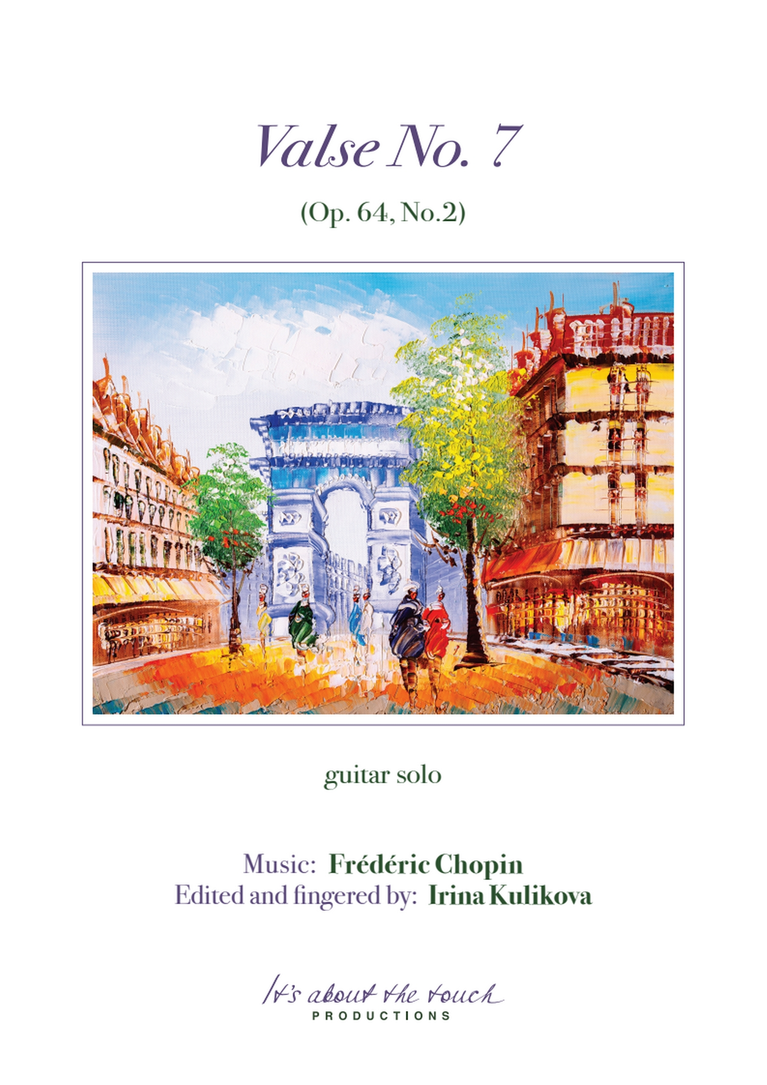 Chopin Valse No. 7 score cover