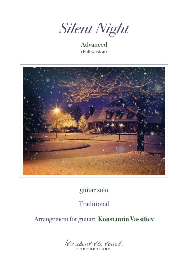 Silent Night - advanced version - score cover