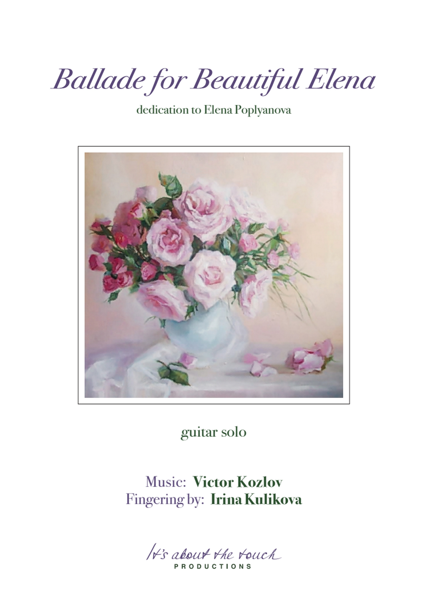 Victor Kozlov - Ballade for Beautiful Elena score cover