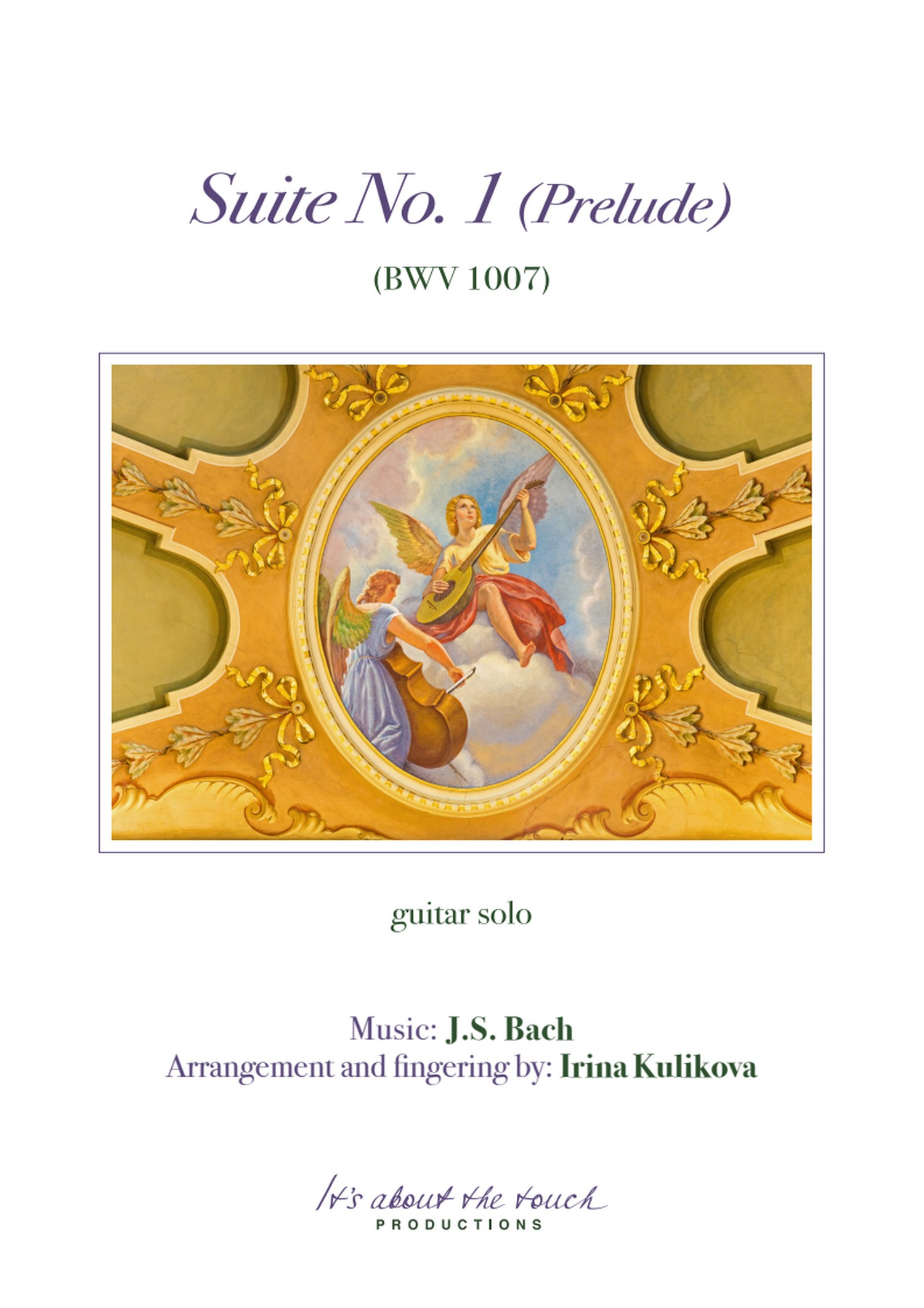 Bach Suite No. 1 Prelude score cover